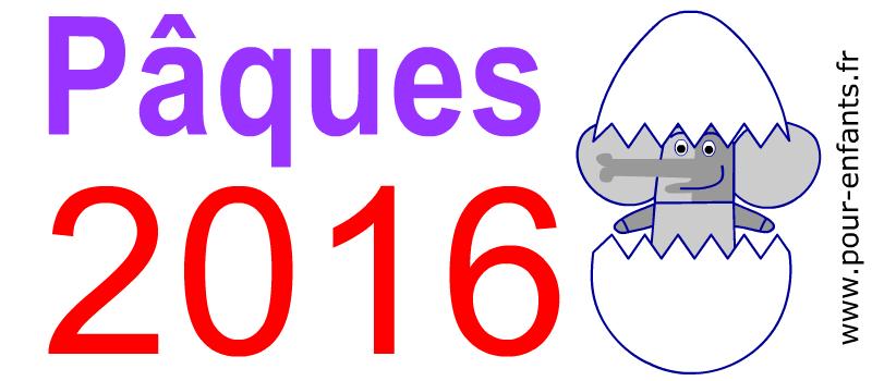 Dessins PAQUES 2016 à imprimer pour enfants