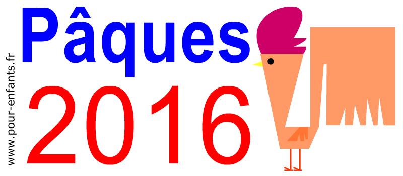 Dessins PAQUES 2016 à imprimer Un coq de Pâques drôle