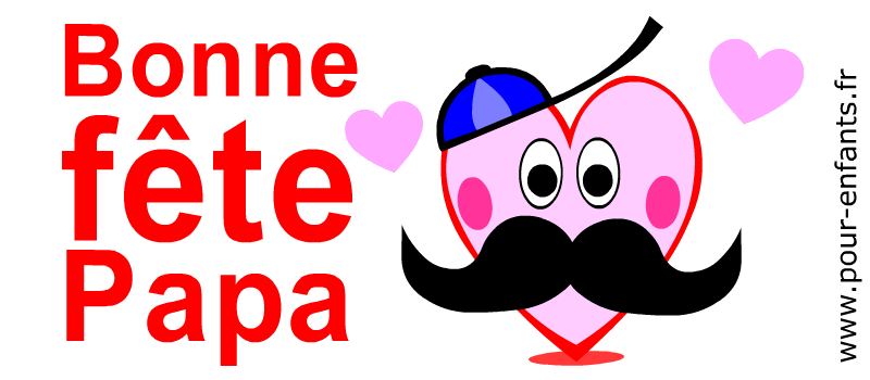 Fête des pères 2016 Dessin moustache coeurs d'amour à imprimer pour FETER les papas moustachus