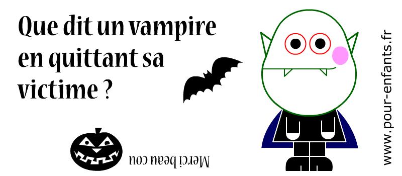 Devinette de vampire à imprimer. Jeux de devinettes d'Halloween..