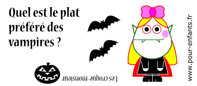 Devinette de vampire à imprimer pour jouer en famille ou à l'école.