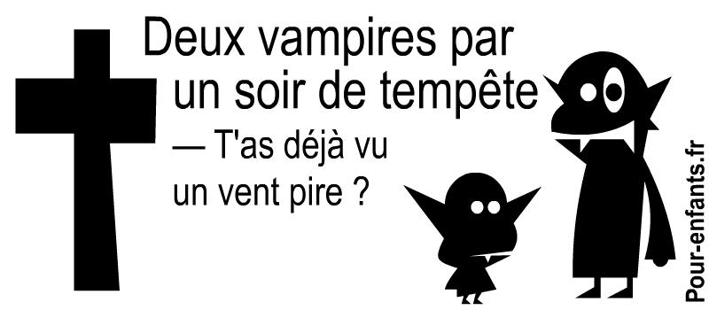 Blagues Halloween courtes. Dialogue drôle de vampires.
