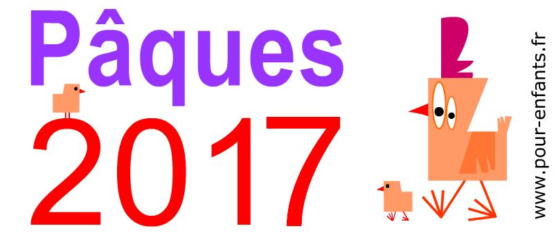 Paques 2017 à imprimer Dessin de la date de Pâques Image de poule poussins