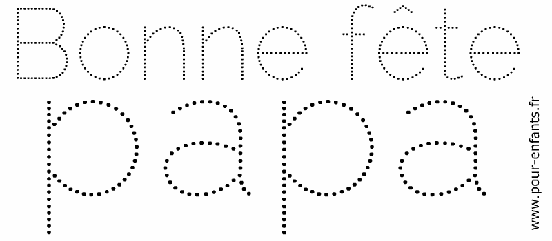 f te des p res 2017 dessins imprimer en pointill s pour. Black Bedroom Furniture Sets. Home Design Ideas