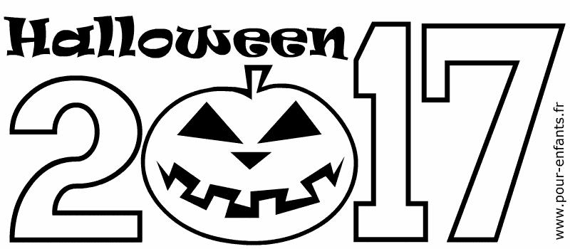 Halloween 2017 date a imprimer pour faire un coloriage