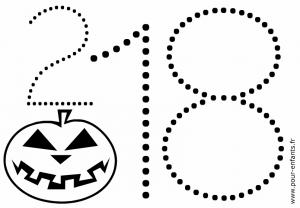 Date Halloween 2018 à imprimer pour coloriages en maternelle