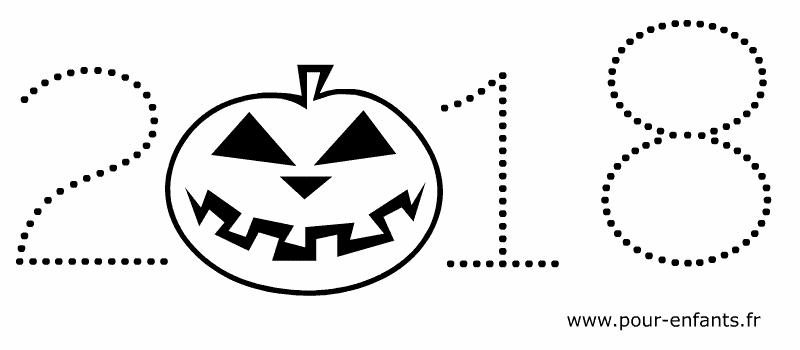 Date Halloween 2018 à imprimer et colorier