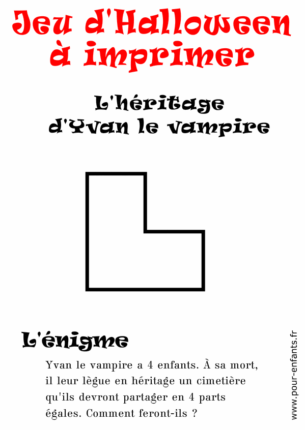 Assez enigme halloween a imprimer Archives - Charades, jeux, blagues  XA61