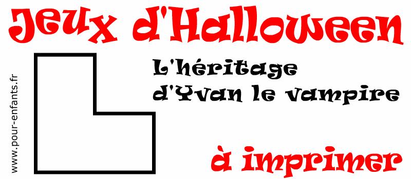 Jeux Halloween à imprimer pour enfants énigme facile mais astucieuse