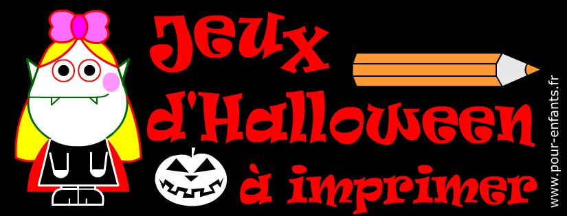 Jeux d'Halloween à imprimer. Fiche d'énigme pour enfants.