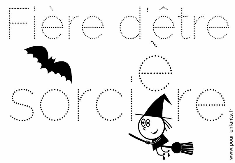 Jeux d halloween a imprimer mots en pointilles. Jeu de points à relier maternelles