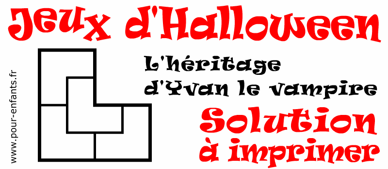 Jeux Halloween à imprimer pour enfants réponse énigme facile