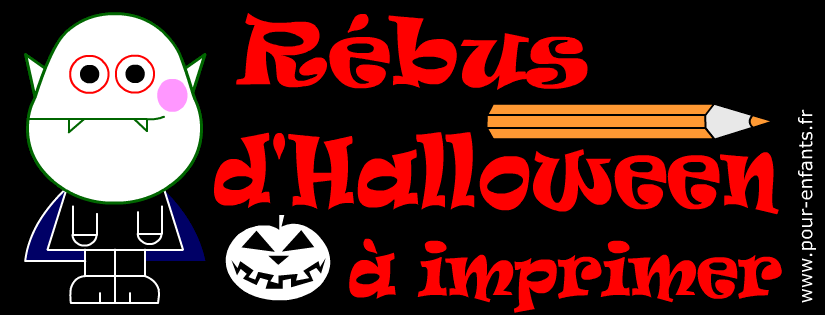Rébus facile d'Halloween. Un mot à trouver.