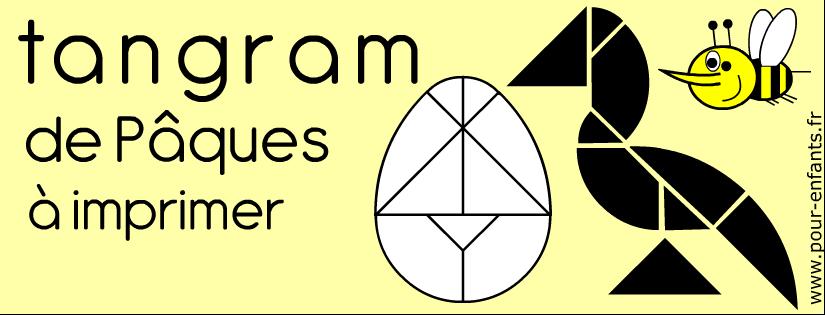 Tangram oeuf à imprimer pour Pâques
