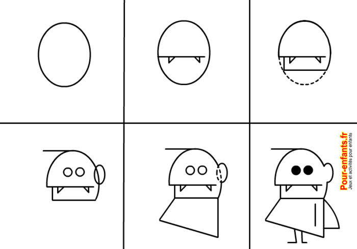 Comment dessiner un vampire étape par étape pas à pas