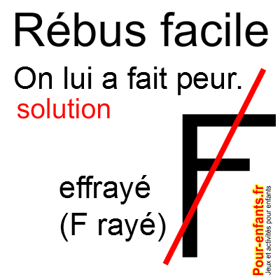 rebus halloween facile a imprimer Solution