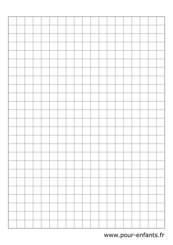 feuille à carreaux à imprimer feuilles de cahier à petits carreaux pour jeux de multiplication