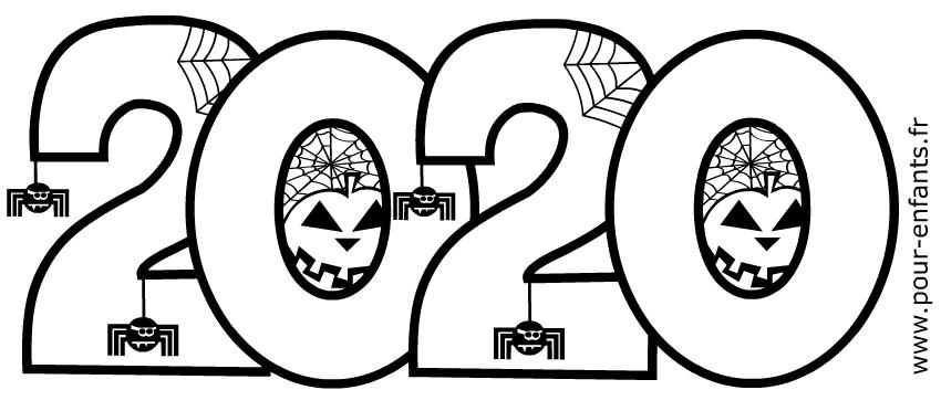 Halloween 2020 à imprimer. Date d'Halloween 2020 à colorier