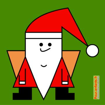 Dessin de père Noël facile à reproduire