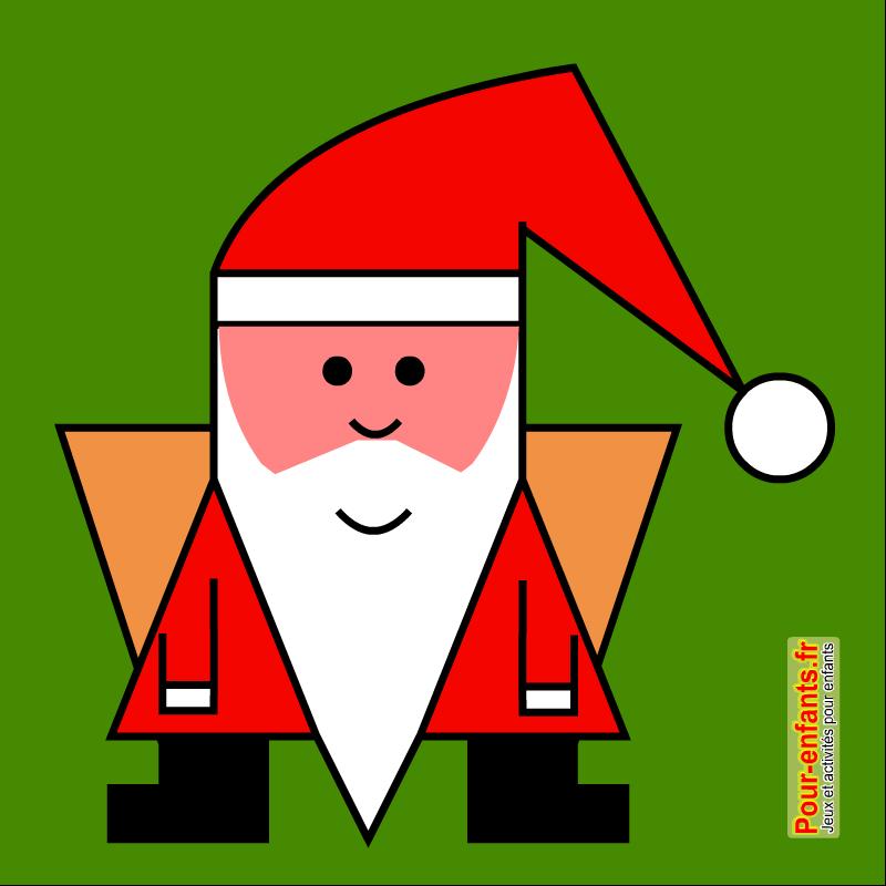 Dessin de père Noël facile à faire. Papa NOEL.