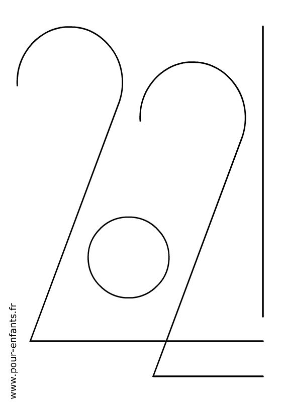 dessin 2021 en chiffres à imprimer pour faire un coloriage