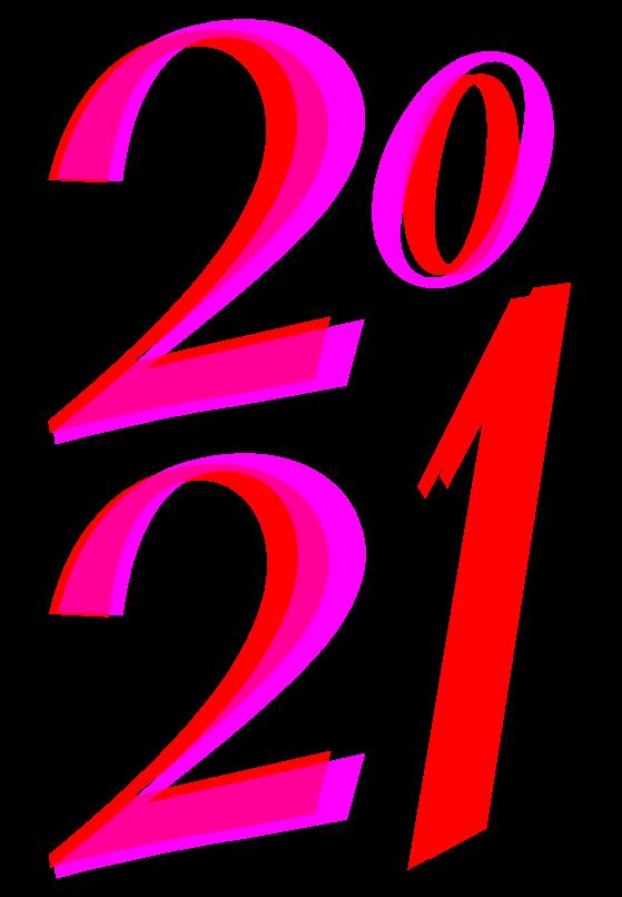 dessin 2021 en grands chiffres à imprimer année 2021