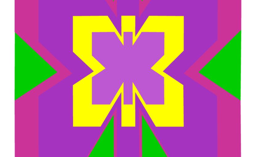 Coloriage sur quadrillage à imprimer. Un papillon.