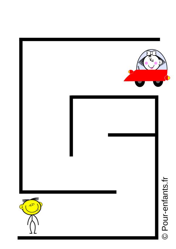 labyrinthe enfant maternelle petite section à imprimer gratuit