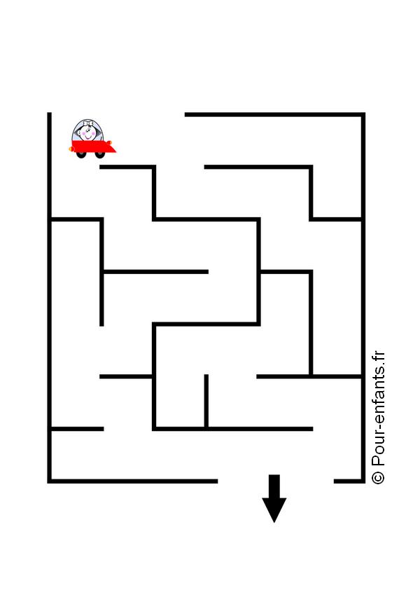 labyrinthe enfant maternelle moyenne grande section à imprimer gratuit