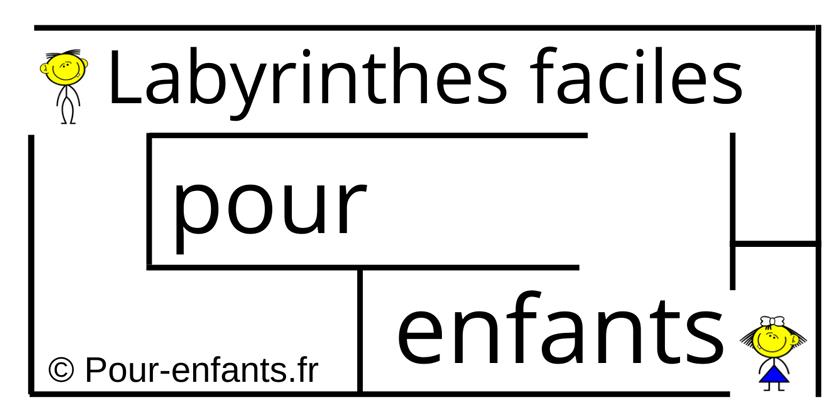 Labyrinthes faciles, à imprimer, pour enfants de maternelle