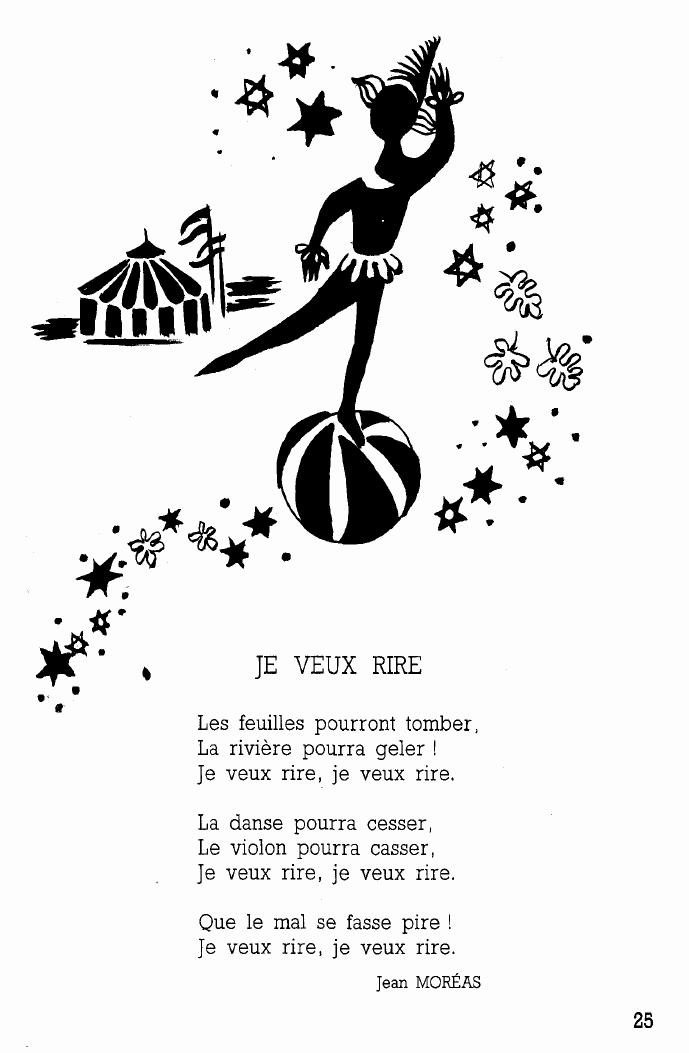poème de Jean Moréas à imprimer pour enfants