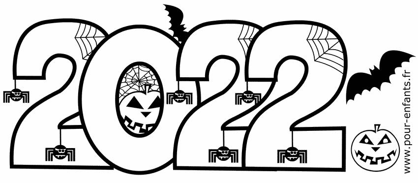 2022 Date Halloween à imprimer