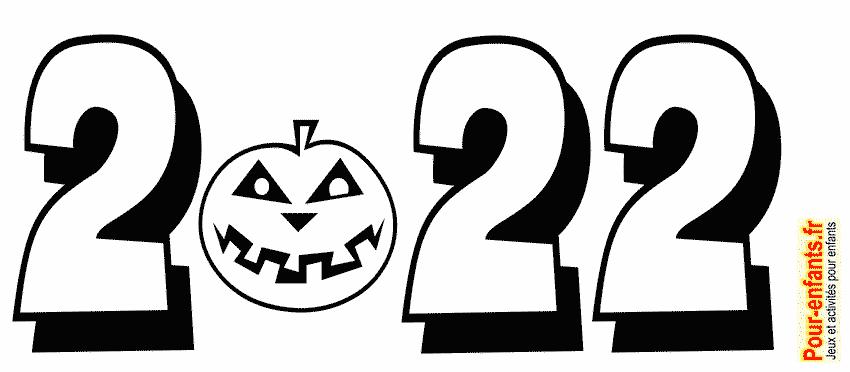 Date Halloween 2022 à imprimer