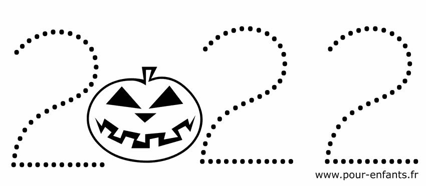 Date Halloween 2022 à imprimer pour faire un coloriage