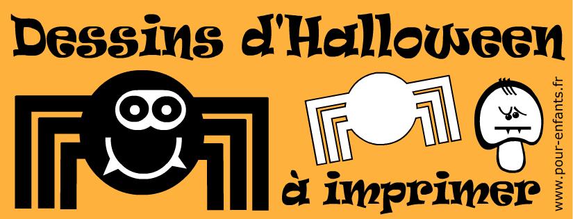 Dessins d'araignées à imprimer pour Halloween