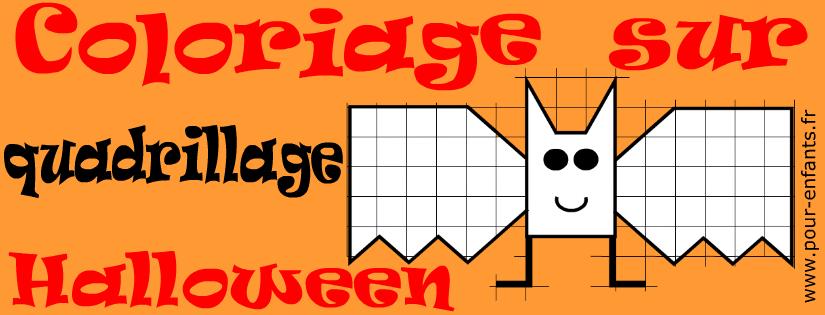 Idées d'activités de coloriages sur quadrillage pour la fête d'Halloween