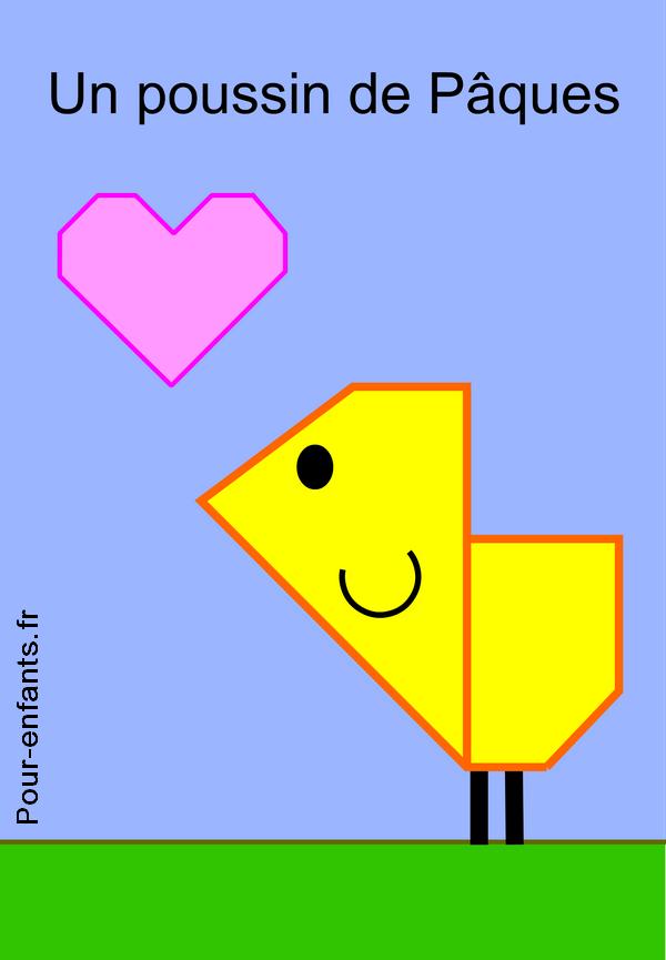 Dessins de poussins à imprimer. Origami. Reproduction sur ...