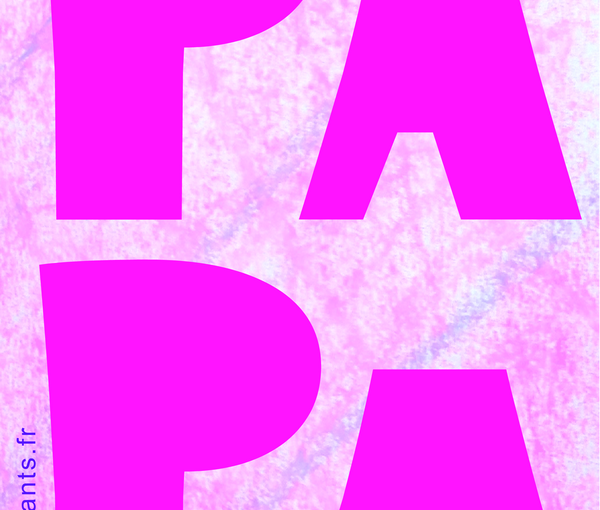 Fête des Pères. Fiche du mot PAPA à imprimer en grandes lettres.